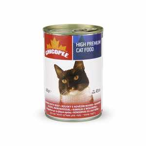 CHICOPEE Cat Chunks Rabbit консервы для кошек с говядиной, уп. 9,6 кг