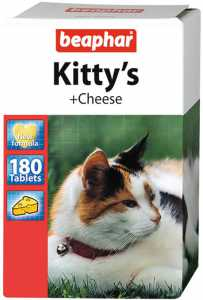 Kitty's + Cheese для кошек (Беафар), уп. 75 и 180 таб.
