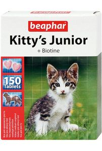 Kitty's Junior с биотином для котят (Беафар), уп. 150 и 1000 таб.
