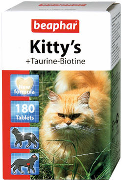 Kitty's + Taurine-Biotine для кошек (Беафар), уп. 75, 180 и 750 таб.